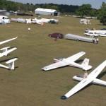 Gliders on runway